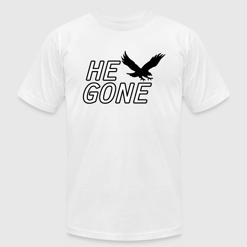Hawk Says He Gone Chicago T-Shirts - Men's Fine Jersey T-Shirt