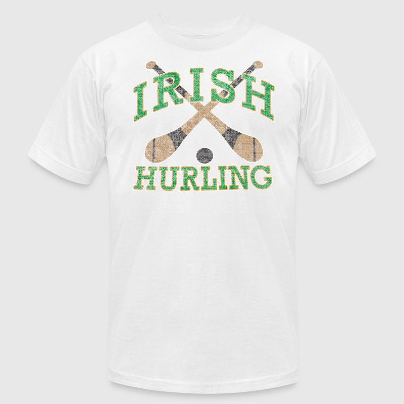 Irish Hurling Ireland Gaelic Games T-Shirts - Men's T-Shirt by American Apparel