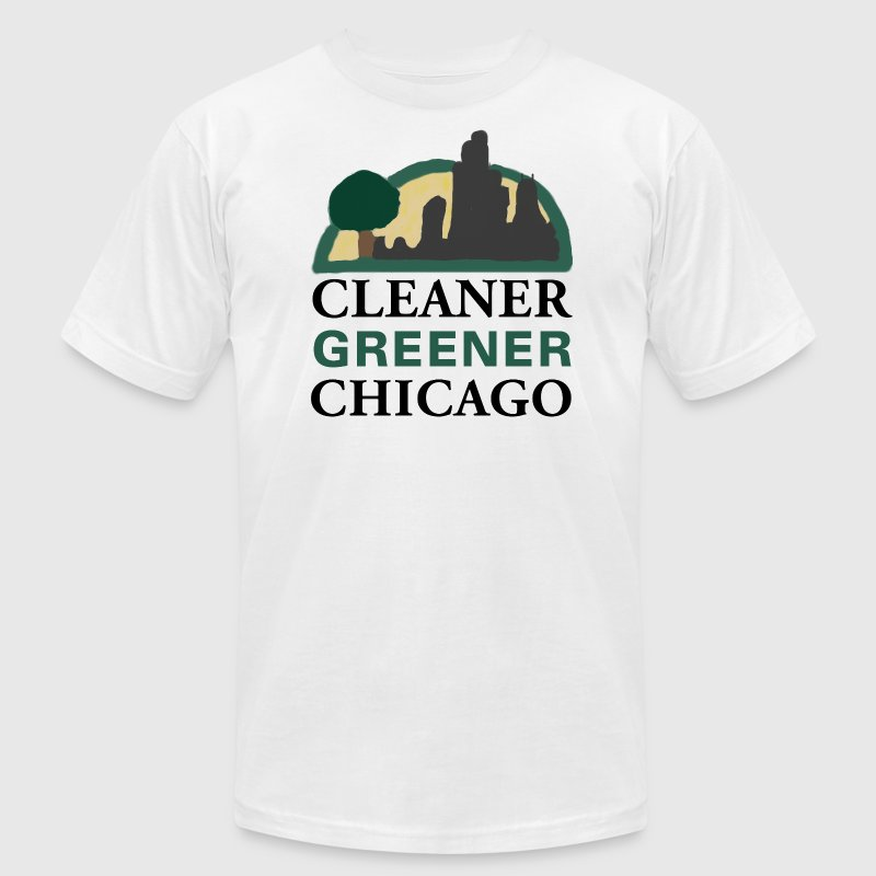 Cleaner Greener Chicago T-Shirts - Men's Fine Jersey T-Shirt