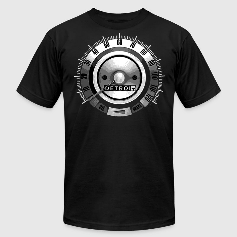 1968 Detroit Speedometer T-Shirts - Men's T-Shirt by American Apparel