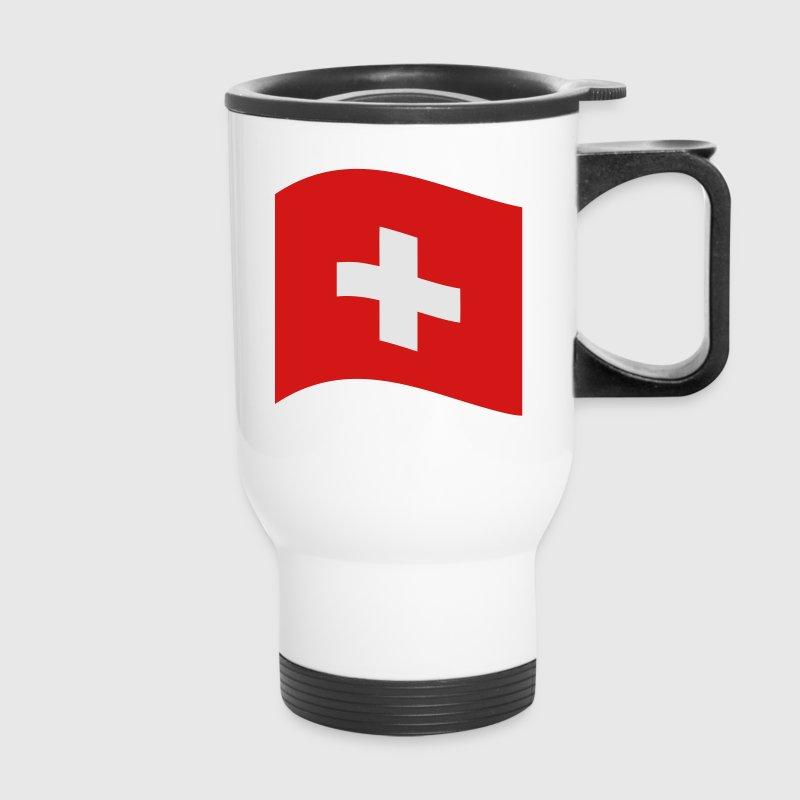 Switzerland, swiss flag Mugs & Drinkware - Travel Mug