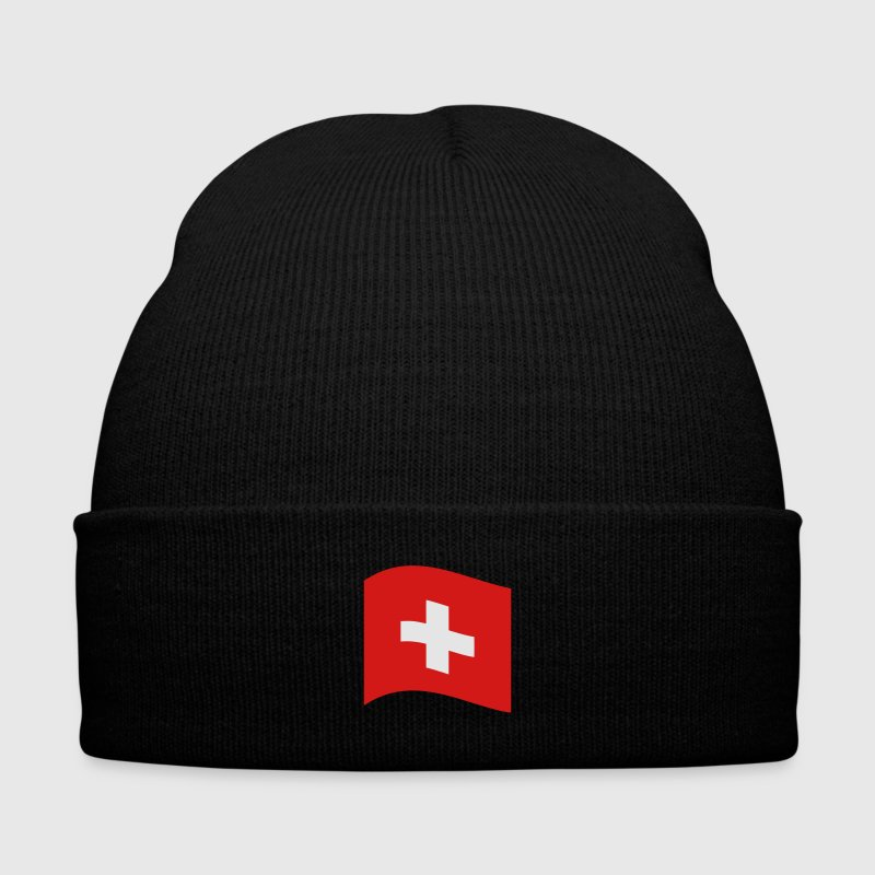 Switzerland, swiss flag Caps - Knit Cap with Cuff Print