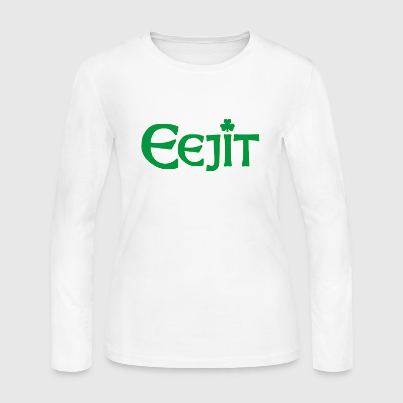 Funny Irish Eejit Idiot Ireland Long Sleeve Shirts - Women's Long Sleeve Jersey T-Shirt
