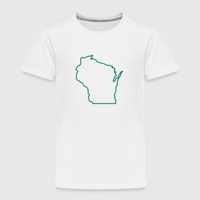 Wisconsin State Outline Design Baby & Toddler Shirts - Toddler Premium T-Shirt