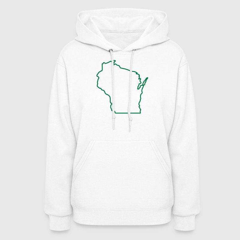 Wisconsin State Outline Design Hoodies - Women's Hoodie