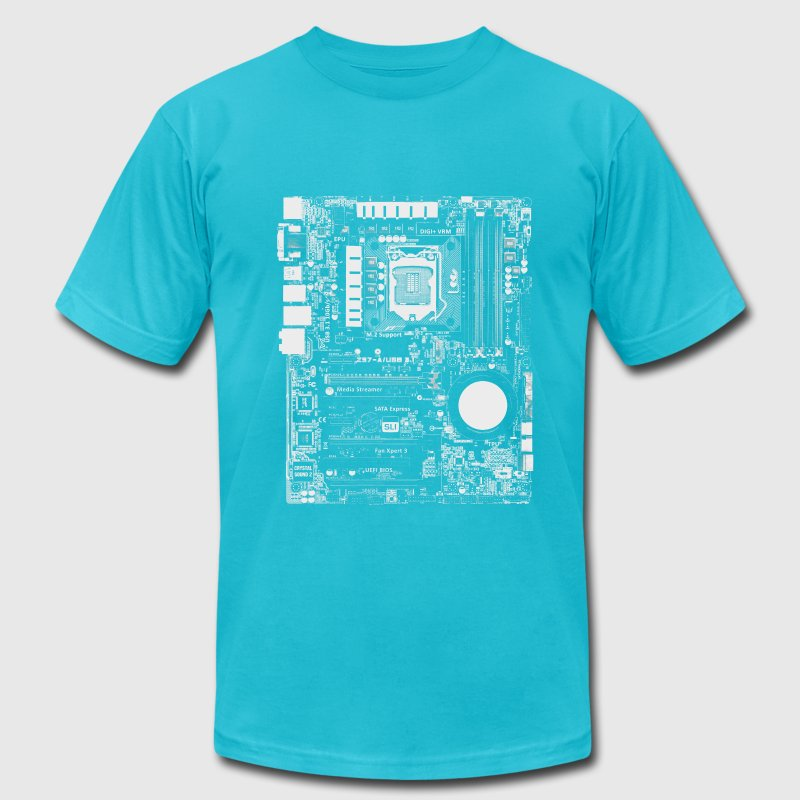 Mainboard - Nerd & Geek Hardware T-Shirts - Men's T-Shirt by American Apparel