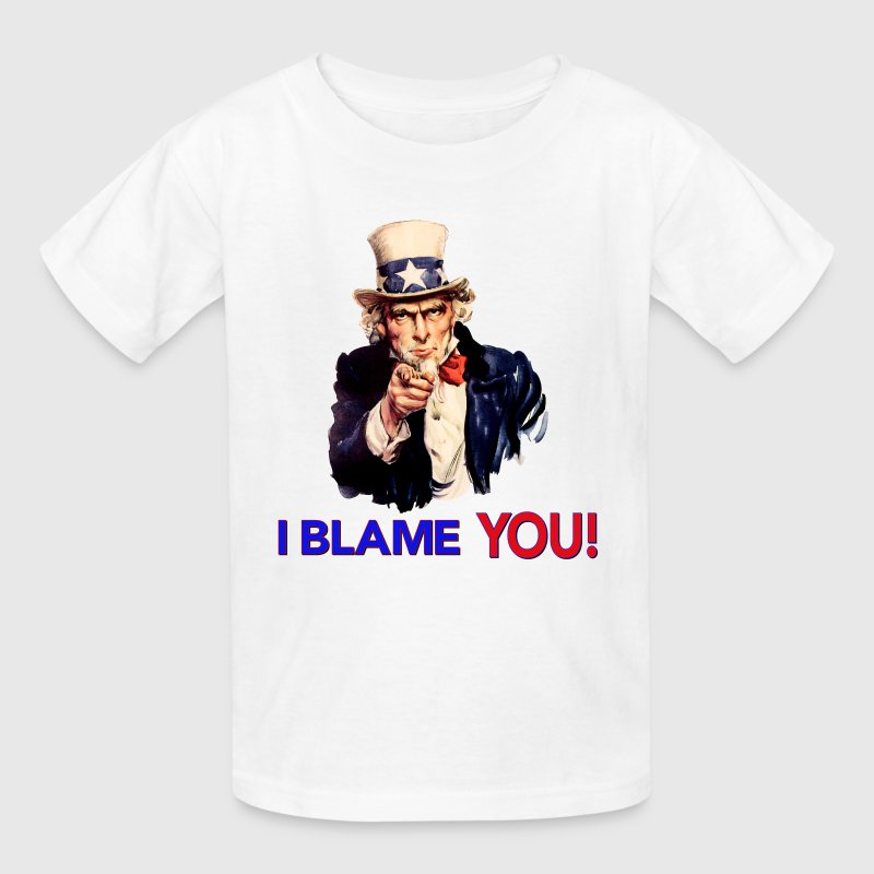 I Blame You - Retro Uncle Sam Pointing Kids' Shirts - Kids' T-Shirt