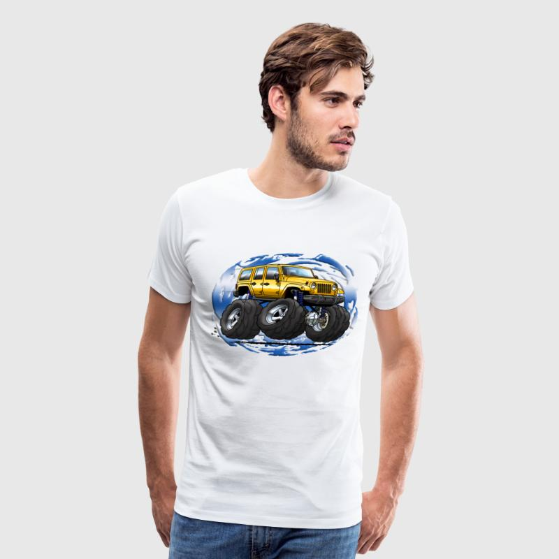 Jeep Wrangler Unlimited yellow cartoon - Men's Premium T-Shirt
