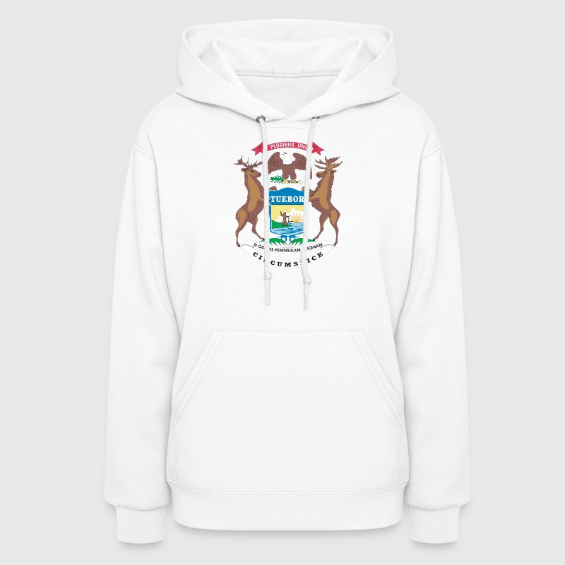 State of Michigan Flag Hoodies - Women's Hoodie