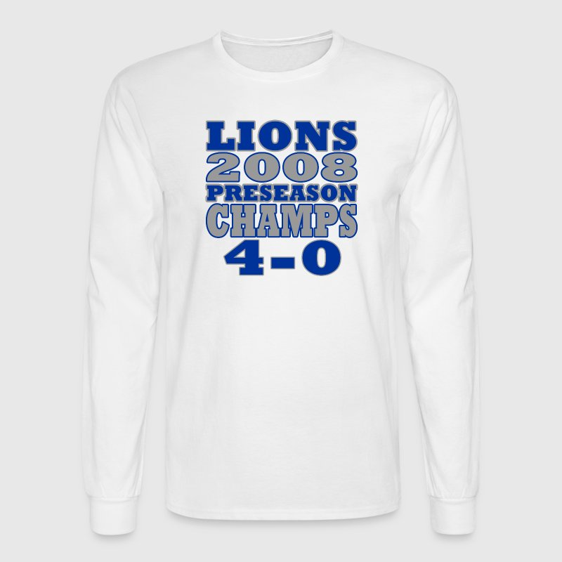 Funny Lions Football Preseason Champs 2008 Long Sleeve Shirts - Men's Long Sleeve T-Shirt