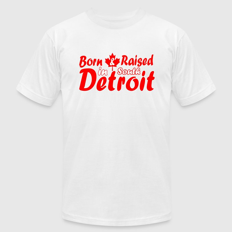 South Detroit Raised Canada  T-Shirts - Men's T-Shirt by American Apparel