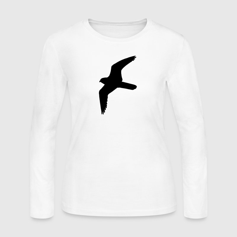 Peregrine Falcon Silhouette Long Sleeve Shirts - Women's Long Sleeve Jersey T-Shirt