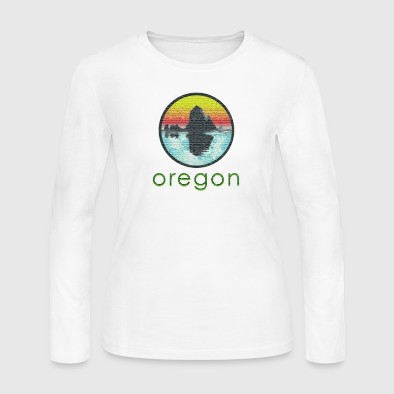 Vintage Cannon Beach Oregon Long Sleeve Shirts - Women's Long Sleeve Jersey T-Shirt
