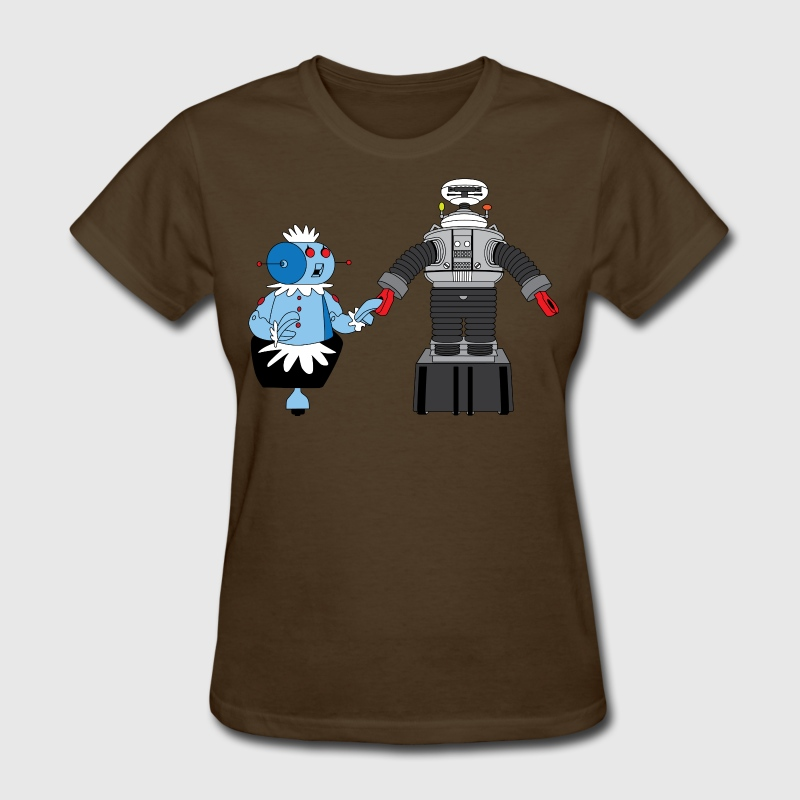 Rosie in Love with Lost in Space robot - Women's T-Shirt