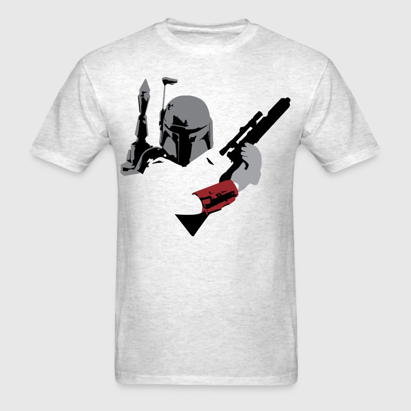 Boba Fett with Blaster  - Men's T-Shirt