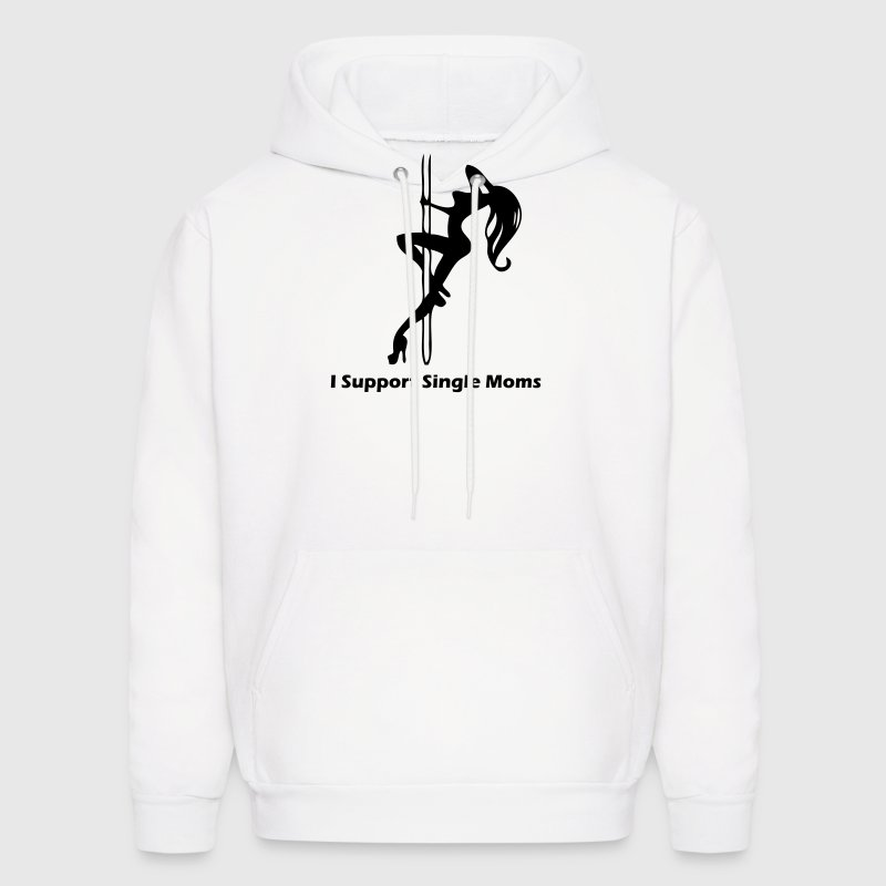 I Support Single Moms Hoodies - Men's Hoodie
