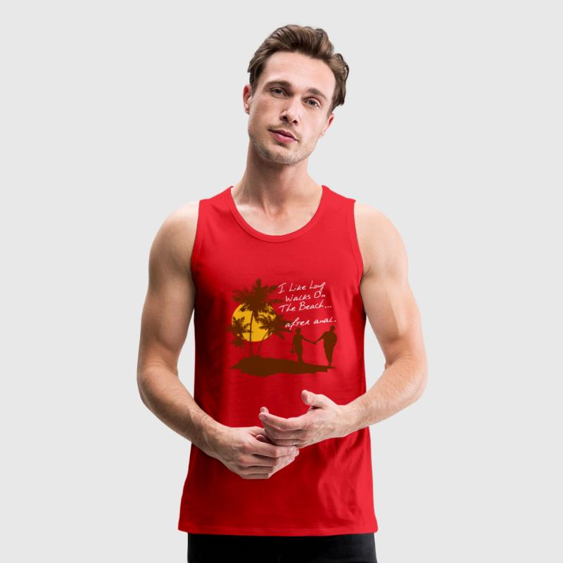 LONG WALKS AFTER ANAL Tank Tops - Men's Premium Tank