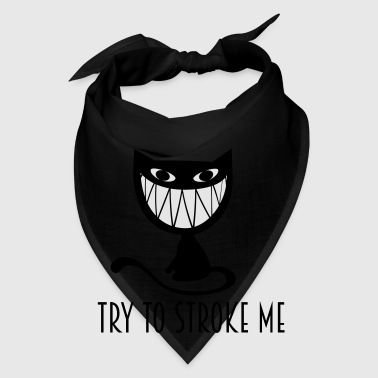 try to stroke me  nasty grinning cat Mugs & Drinkware - Bandana