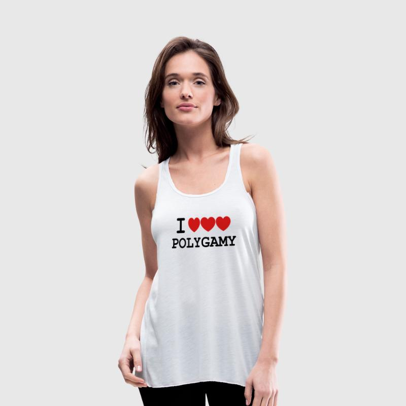 i heart polygamy free love fun sex hippie Tanks - Women's Flowy Tank Top by Bella