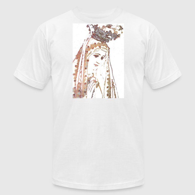 Our Lady of Fatima Mary T-Shirts - Men's Fine Jersey T-Shirt