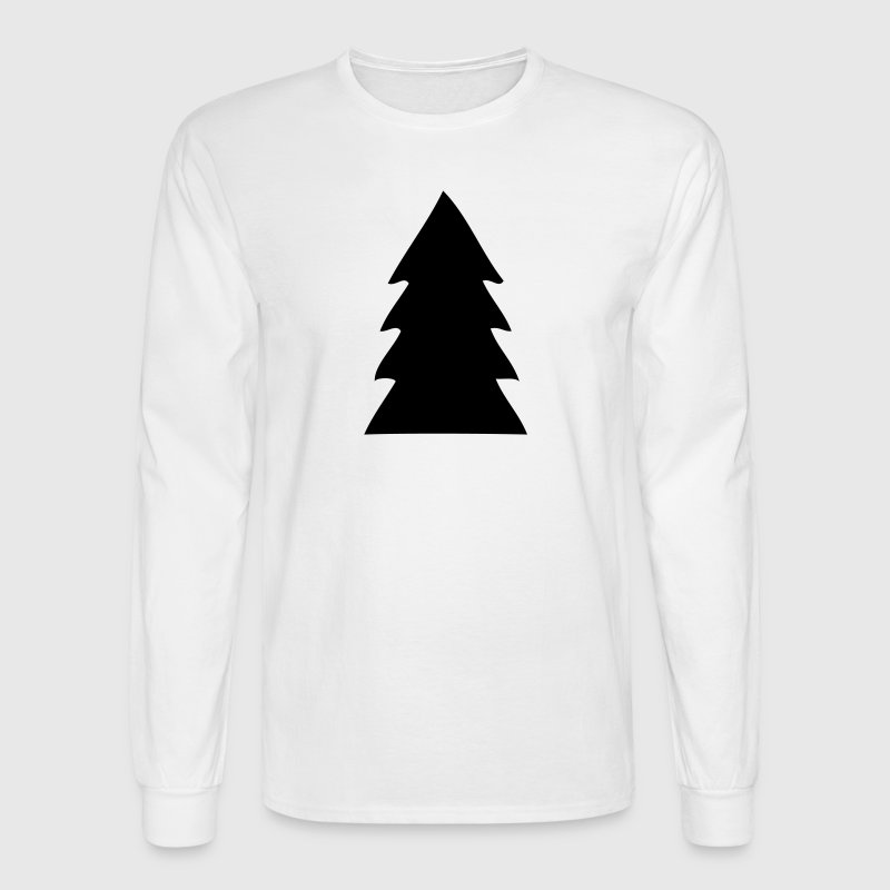 Evergreen Christmas Tree Silhouette Long Sleeve Shirts - Men's Long Sleeve T-Shirt