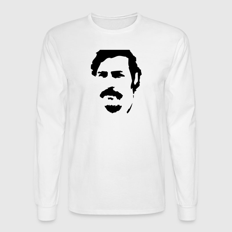 Pablo Escobar Silhouette Long Sleeve Shirts - Men's Long Sleeve T-Shirt