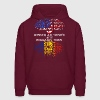 American Grown With Romanian Roots - Men's Hoodie