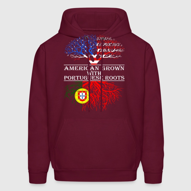 American Grown With Portuguese Roots - Men's Hoodie