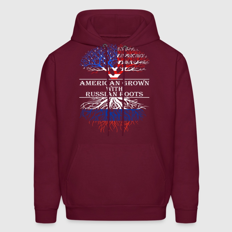 American Grown With Russian Roots - Men's Hoodie
