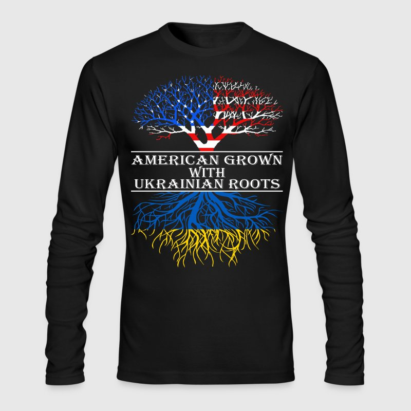 American Grown With Ukrainian Roots - Men's Long Sleeve T-Shirt by Next Level