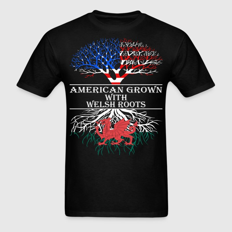 American Grown With Welsh Roots - Men's T-Shirt