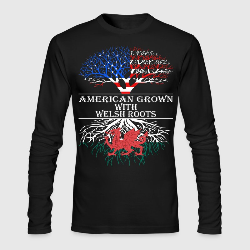 American Grown With Welsh Roots - Men's Long Sleeve T-Shirt by Next Level