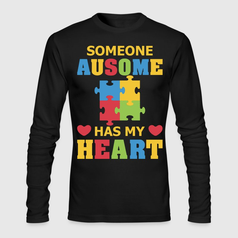 Some Ausome Has My Heart - Men's Long Sleeve T-Shirt by Next Level