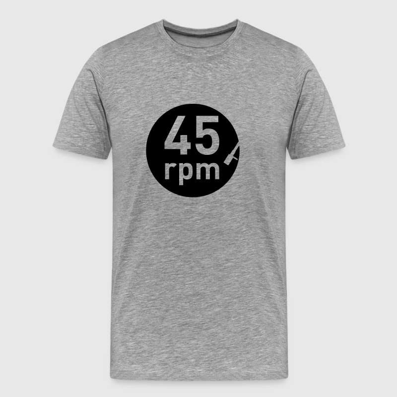 45rpm record player DJ club music sound DJane T-Shirts - Men's Premium T-Shirt