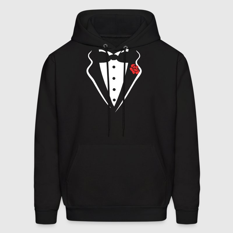 TUXEDO SMOKING SHIRT Hoodies - Men's Hoodie