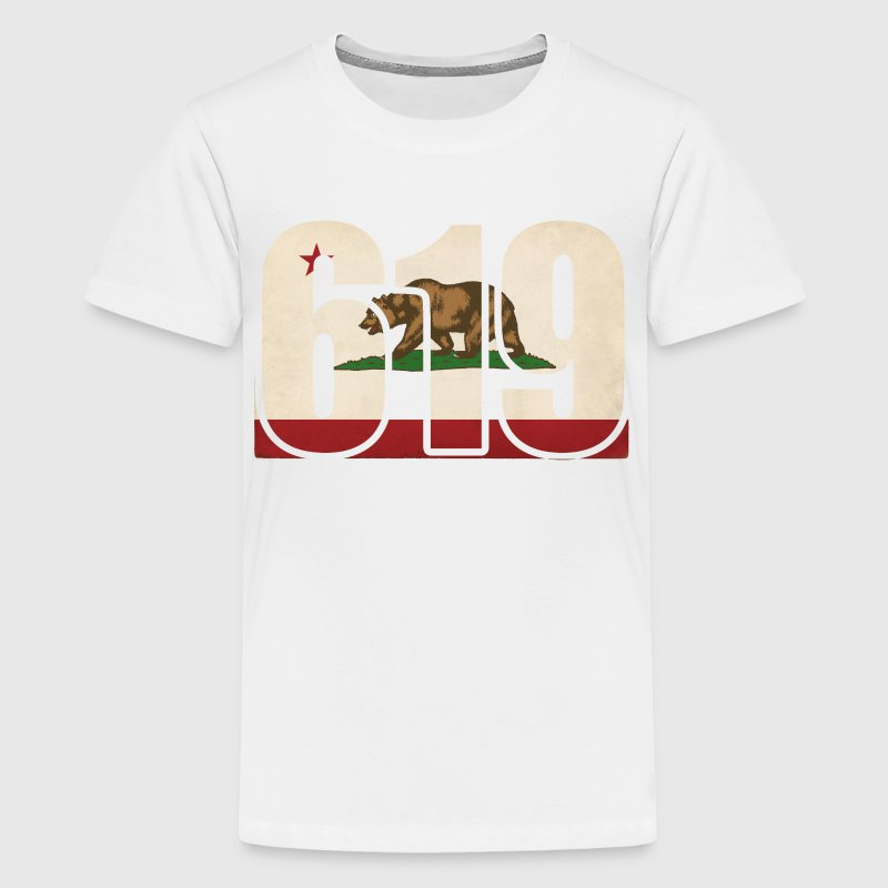 619 California Area Code Bear Flag Kids' Shirts - Kids' Premium T-Shirt