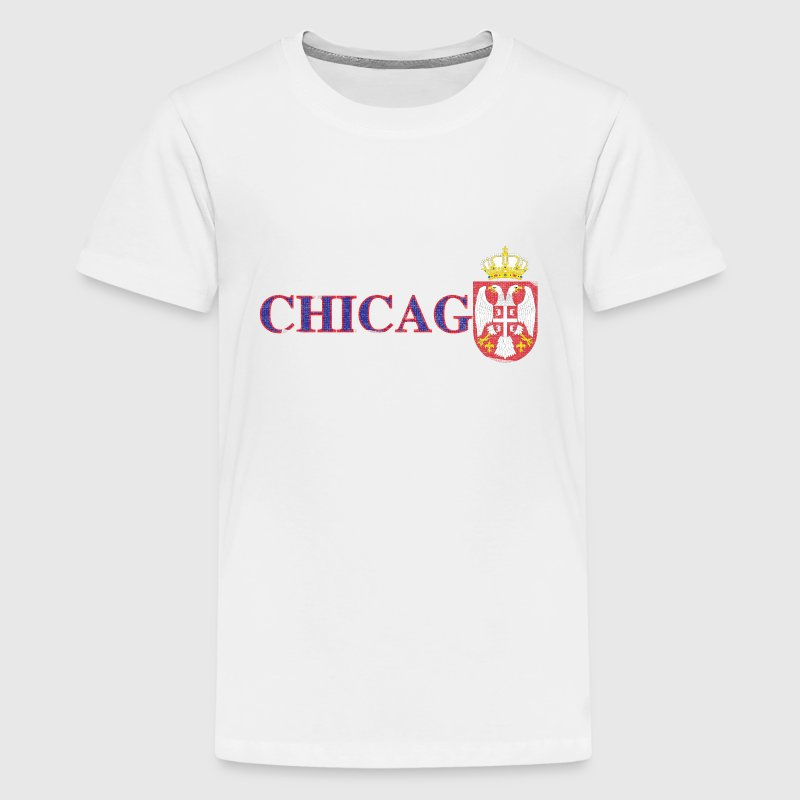 Chicago Serbian Flag Kids' Shirts - Kids' Premium T-Shirt