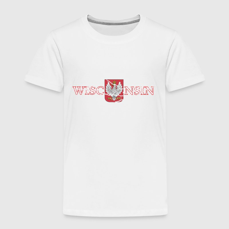 Wisconsin Poland Polish Flag Baby & Toddler Shirts - Toddler Premium T-Shirt