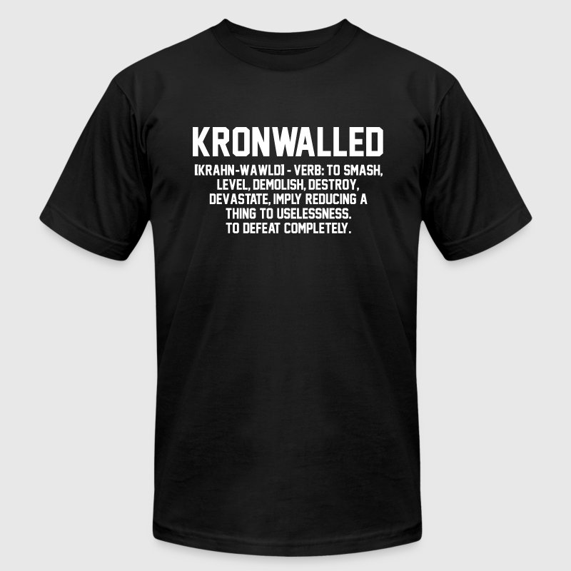 Kronwalled Hockey Hit T-Shirts - Men's Fine Jersey T-Shirt