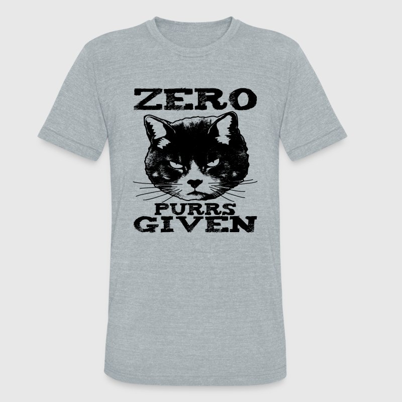 Zero Purrs Given Cat T-Shirts - Unisex Tri-Blend T-Shirt by American Apparel