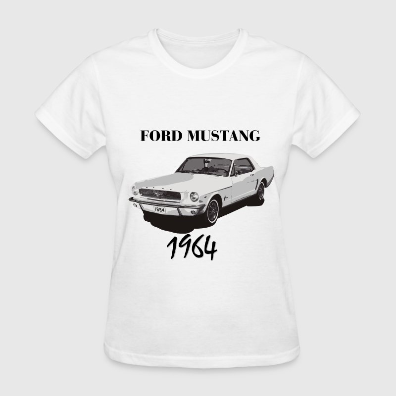 Ladies Size Ford Mustang Design T Shirt Tee Shirt Pony Tri: Ford Mustang 1964 T-Shirt