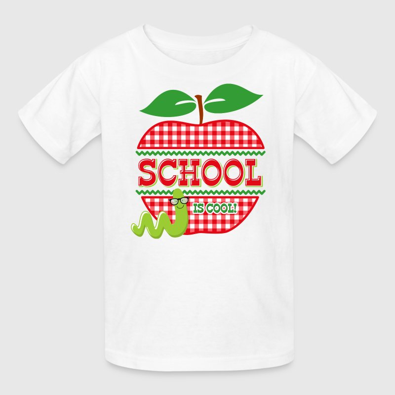 Apple School Is Cool Kids' Shirts - Kids' T-Shirt