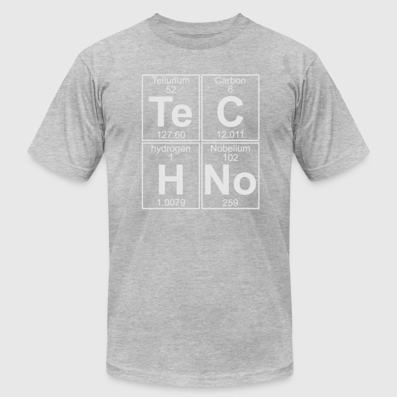 TECHNO PERIODIC TABLE T-Shirts - Men's Fine Jersey T-Shirt