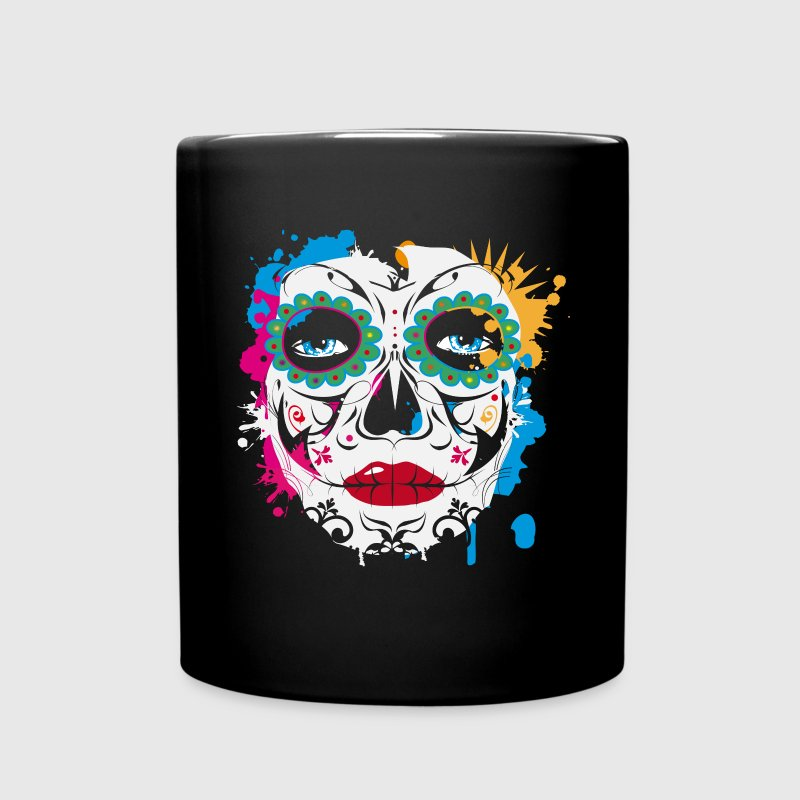 Sugar Skull Makeup Graffiti Mugs & Drinkware - Full Color Mug