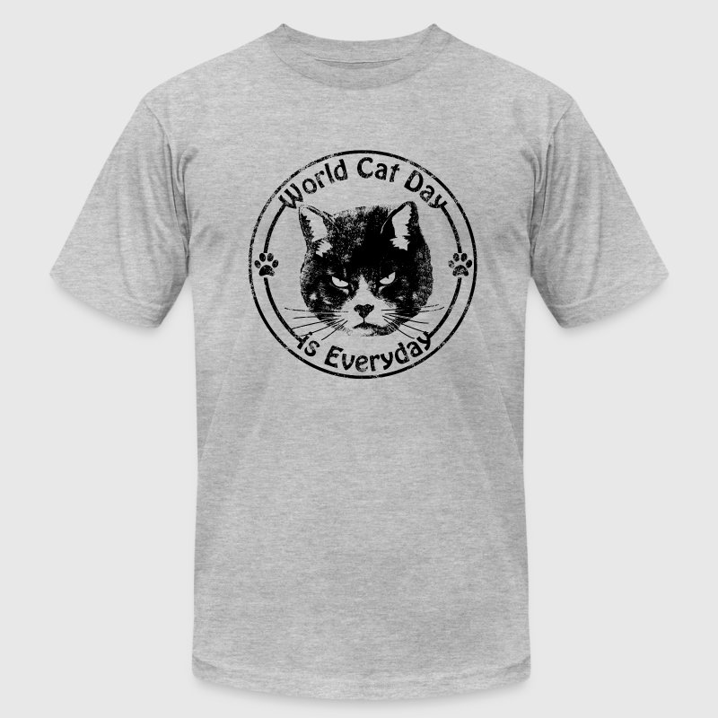Vintage World Cat Day T-Shirts - Men's T-Shirt by American Apparel
