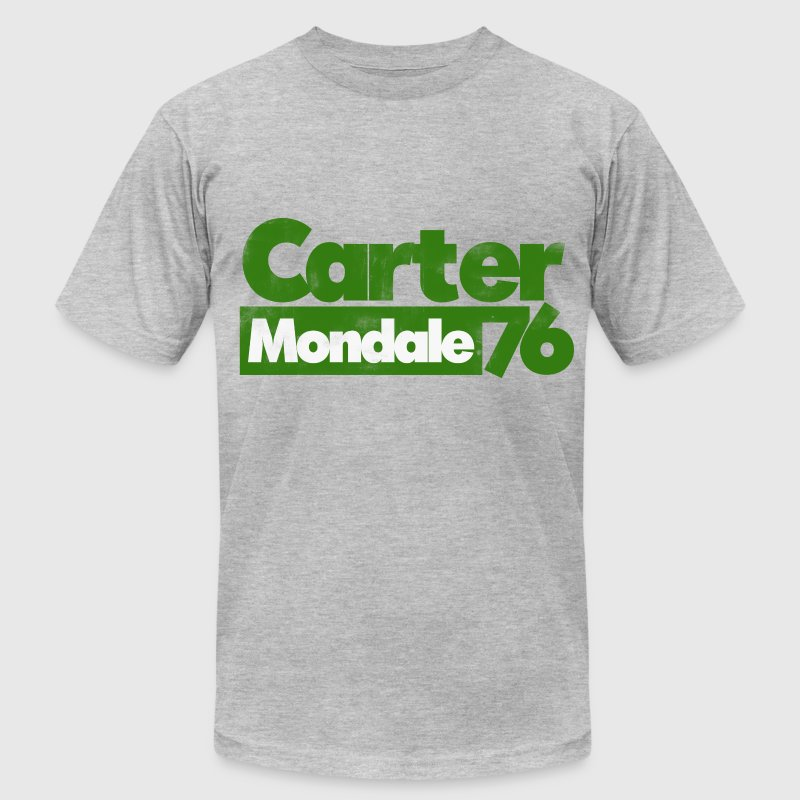 Jimmy Carter Mondale 76 1976 70s retro politics  - Men's T-Shirt by American Apparel