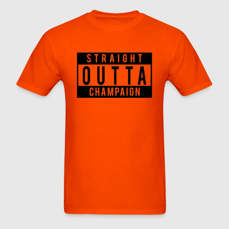 Straight Outta Champaign T-Shirts - Men's T-Shirt
