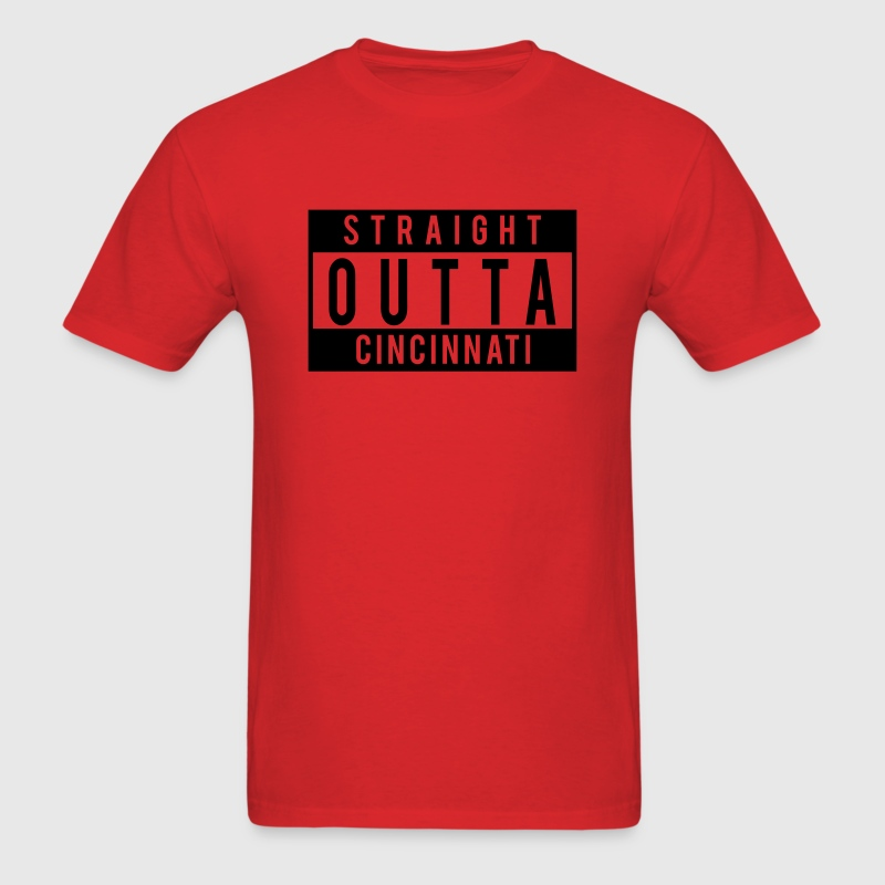Straight Outta Cincinnati T-Shirts - Men's T-Shirt