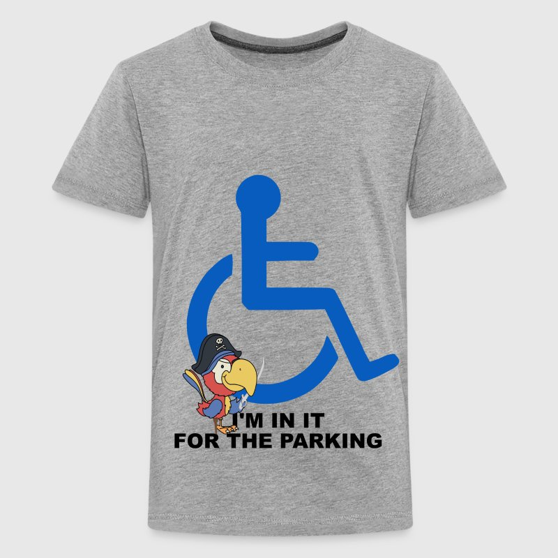 I'm in it for the Parking - Grey - Kids' Premium T-Shirt