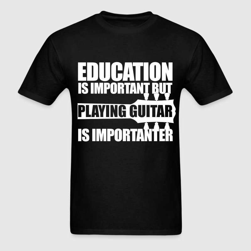 Education guitar wt t shirt spreadshirt for T shirt design for education
